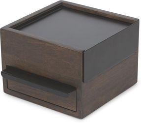 Juwelenbox Stowit Mini - walnoot/zwart - 17x15x11cm - Umbra